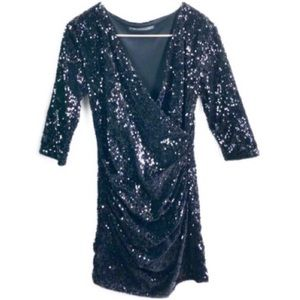 Vintage Rich Coco • Fully Sequined Wrap Dress.TU